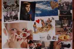 Eine unserer ersten Aufgaben war eine Collage zu erstellen, die etwas über uns und unser Leben erzählt und anhand derer wir uns den anderen vorgestellt haben